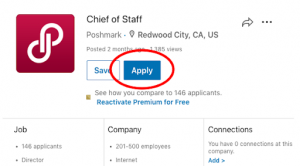 find the job you want to apply for on linkedin